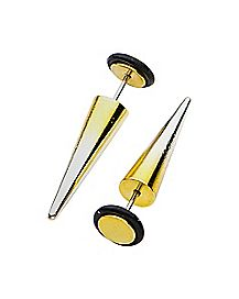 Goldtone Ombre Fake Tapers - 18 Gauge