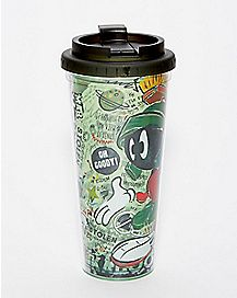 Marvin The Martian Travel Mug 24 oz. - Looney Tunes