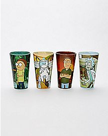 Rick and Morty Pint Glasses 16 oz. - 4 Pack
