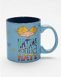 Haters Gonna Hate Hey Arnold Coffee Mug 20 oz. - Nickelodeon