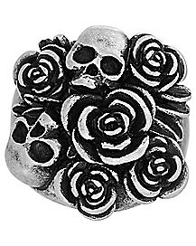 Bouquet Skull Ring