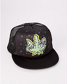 Pot Leaf Get High Trucker Hat