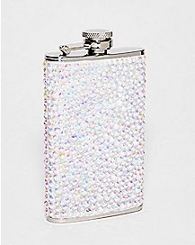 Iridescent Rhinestone Flask - 5 oz.