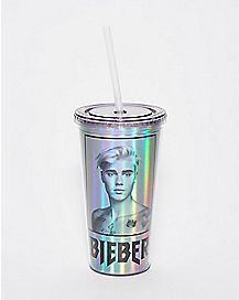Foil Justin Bieber Cup With Straw - 20 oz.