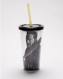 Who Are You Negan Cup With Straw 20 oz. - The Walking Dead