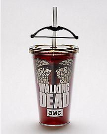 Crossbow Daryl Dixon Cup With Straw 16 oz. - The Walking Dead