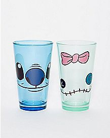 Stitch and Scrump Pint Glass 2 Pack 16. oz - Lilo & Stitch