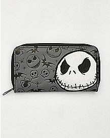 Velvet Jack Skellington Zip Wallet - The Nightmare Before Christmas