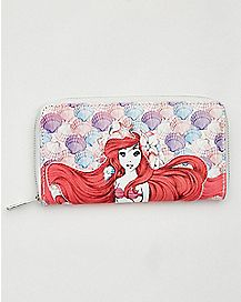 Shells Ariel Zip Wallet - The Little Mermaid
