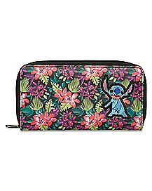 Floral Applique Stitch Wallet - Lilo & Stitch