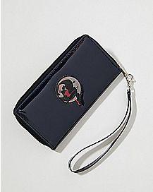 Iridescent Moon Lady Zip Wallet
