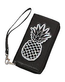 Iridescent Pineapple Zip Wallet