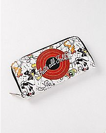 That's All Folks Zip Wallet - Looney Tunes