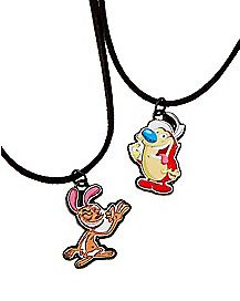 Ren and Stimpy Friendship Necklaces – The Ren & Stimpy Show