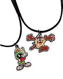 Marvin and Taz Friendship Necklaces – Looney Tunes
