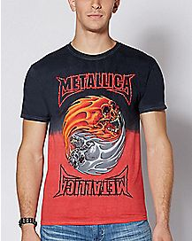Dip Dye Metallica T Shirt