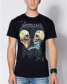 Skull Sad But True Metallica T Shirt