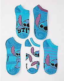 Stitch No Show Socks 5 Pair - Disney