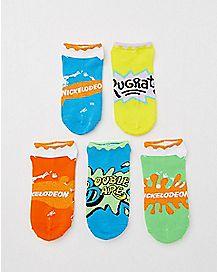 Nickelodeon No Show Socks - 5 Pair