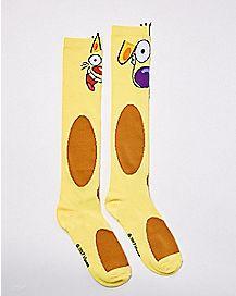 3D Catdog Crew Socks - Nickelodeon