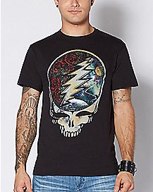 Lightning Skull Grateful Dead T Shirt
