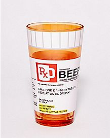 Beer Prescription Pint Glass - 16 oz.