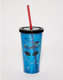 NASA Believe Alien Cup With Straw - 20 oz.