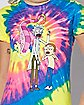 Spiral Tie Dye Rick and Morty T Shirt - Rick and Morty