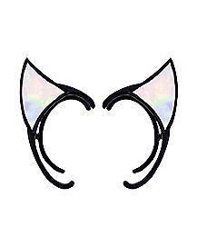 Rainbow Cat Ear Ear Cuffs - 1 Pair