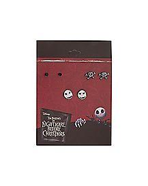 Jack Skellington Earrings 3 Pair - The Nightmare Before Christmas
