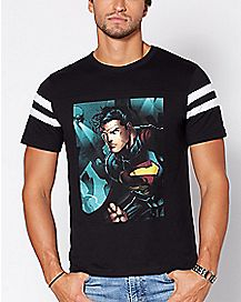 Varsity Superman T Shirt - DC Comics