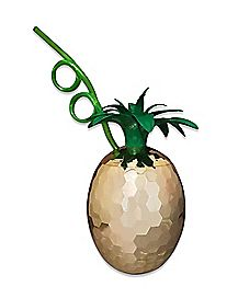 Disco Pineapple Cup with Straw