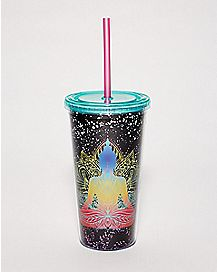 Buddha Cup With Straw - 20 oz