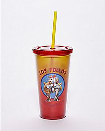 Los Pollos Hermanos Cup With Straw 20 oz. - Breaking Bad