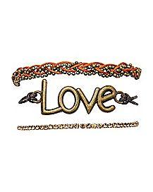 Threaded Love Bracelet - 3 Pack