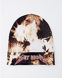Bleach Dye Get High Beanie Hat