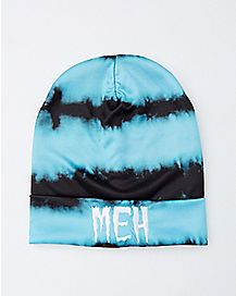 Bleach Dye Meh Beanie Hat