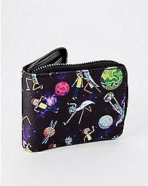 Galaxy Rick and Morty Zip Wallet