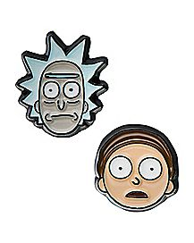 Rick and Morty Stud Earrings - 1 Pair