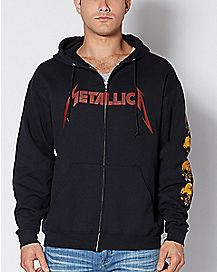 Spider Skull Metallica Hoodie Sweatshirt