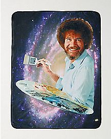 Galaxy Bob Ross Fleece Blanket