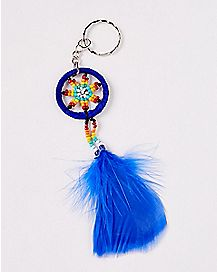 Beaded Dream Catcher Keychain