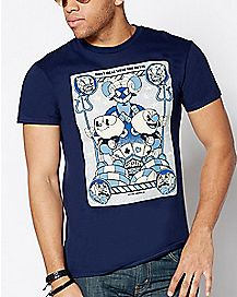 Blue Cuphead T Shirt