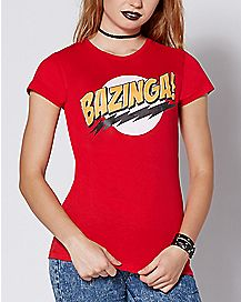 Bazinga T Shirt - The Big Bang Theory
