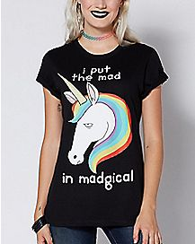 Put The Mad In Madgical Unicorn T Shirt