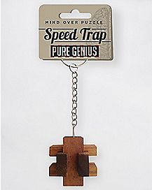 Speed Trap Puzzle Keychain