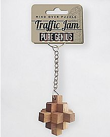 Traffic Jam Puzzle Keychain
