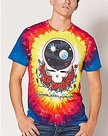 Tie Dye Skull Grateful Dead T Shirt