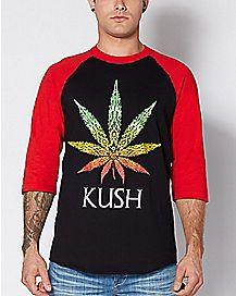 Rasta Kush Raglan T Shirt