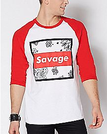 Raglan Bandana Savage T Shirt